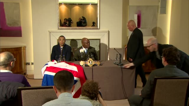 nick blackwell gives first television interview since waking from coma; t29031621 / tx 29.3.2016 chris eubank sr and chris eubank jr at press... - chris eubank sr. stock videos & royalty-free footage