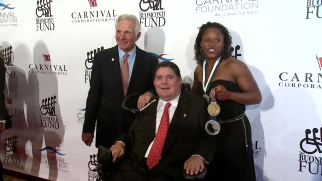 Nick Buoniconti Marc Buoniconti Lauryn Williams and Bree Schaaf at 29th Annual Great Sports Legends Dinner at The Waldorf=Astoria on September 29...