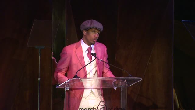 speech nick cannon at march of dimes celebration of babies luncheon honoring jennifer lopez in los angeles ca on 12/06/13 - nick cannon stock videos & royalty-free footage