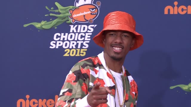 nick cannon at nickelodeon kids' choice sports awards 2015 at pauley pavilion on july 16 2015 in los angeles california - nick cannon stock videos & royalty-free footage