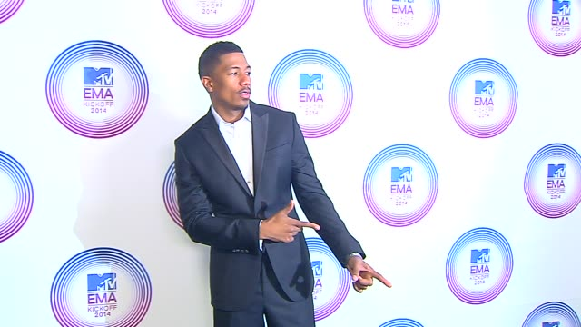 nick cannon at the mtv ema's 2014 kick off from klipsch amphitheater in miami on november 09 2014 in miami florida - nick cannon stock videos & royalty-free footage