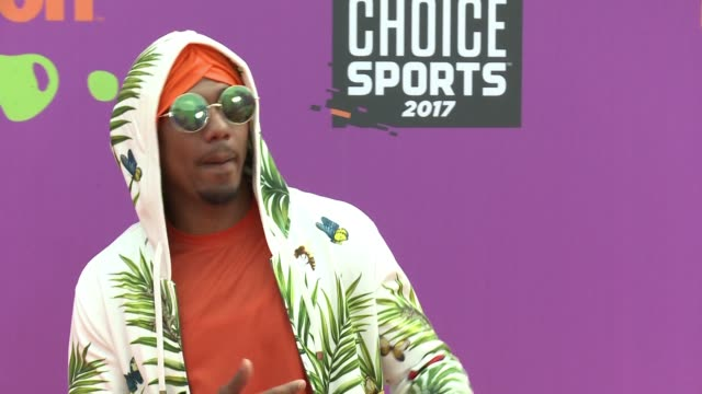 nick cannon at the nickelodeon kids' choice sports awards 2017 at ucla's pauley pavilion on july 13 2017 in westwood california - nick cannon stock videos & royalty-free footage