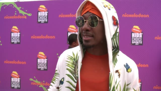 interview nick cannon at the nickelodeon kids' choice sports awards 2017 at ucla's pauley pavilion on july 13 2017 in westwood california - nick cannon stock videos & royalty-free footage