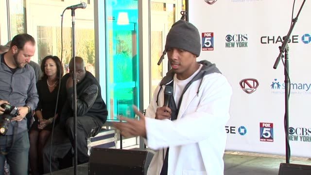 speech nick cannon discusses the first time he went to st mary's at nick cannon rocks lights empire state building for st mary's kids at the empire... - nick cannon stock videos & royalty-free footage