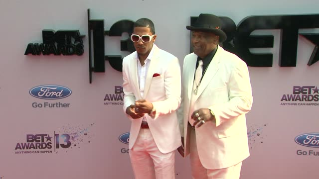 nick cannon james cannon at bet 2013 awards arrivals on 6/30/13 in los angeles ca - nick cannon stock videos & royalty-free footage