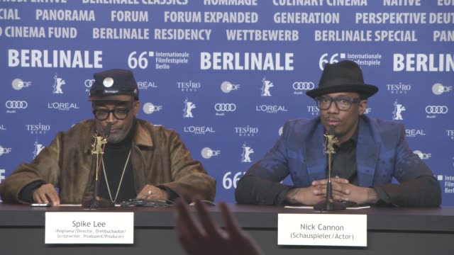 stockvideo's en b-roll-footage met interview nick cannon on art not focusing on the important things and on spike lee at 'chiraq' press conference 66th berlin international film... - internationaal filmfestival van berlijn 2016