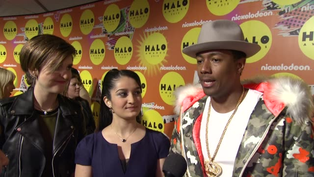 nick cannon on the show being bigger than ever this year. the surprises happened on a whole other level. on the halo hall of fame award and why... - 2015 stock videos & royalty-free footage