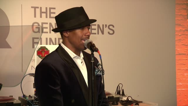speech nick cannon presents victor cruz with his award at gq gentlemen's cocktail reception awards ceremony at the gent on october 22 2015 in new... - nick cannon stock videos & royalty-free footage