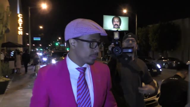 interview nick cannon talks about gun control outside catch restaurant in west hollywood in celebrity sightings in los angeles - nick cannon stock videos & royalty-free footage