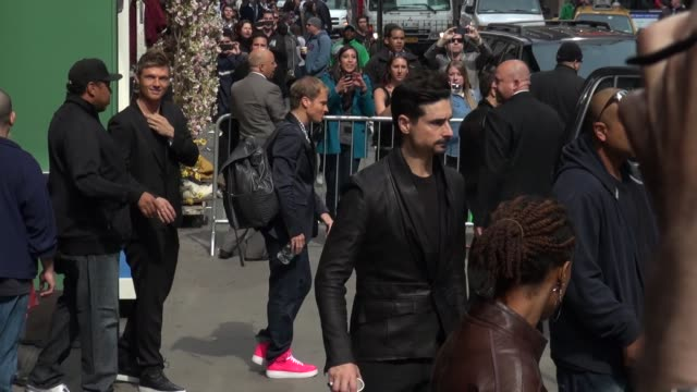 Nick Carter AJ McLean Brian Littrell Howie Dorough and Kevin Richardson at the 'Good Morning America' studio in New York NY on 5/15/13