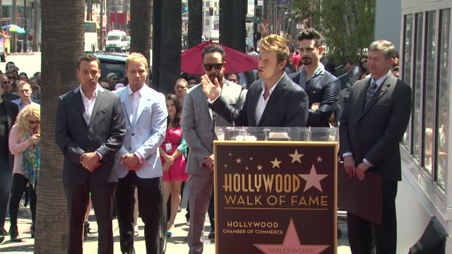 SPEECH Nick Carter on how excited he is to be honored with a star at Backstreet Boys Celebrate 20 Year Career With Star On The Hollywood Walk Of Fame...
