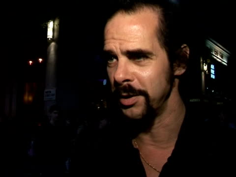 Nick Cave on song writing vs screen writing at the The Times BFI 49th London Film Festival The Proposition on October 26 2005