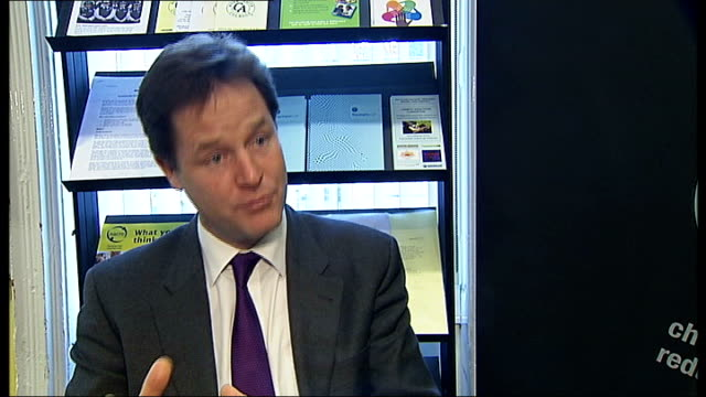 Nick Clegg and Brian Paddick visit crime reduction charity in Clapham Nick Clegg MP interview SOT On cutting crime by dealing with the causes / got...