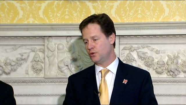 Nick Clegg hosts event for European Liberal Party leaders Press conference QUESTION Clegg answer SOT Negotiations on new treaty not anywhere near...