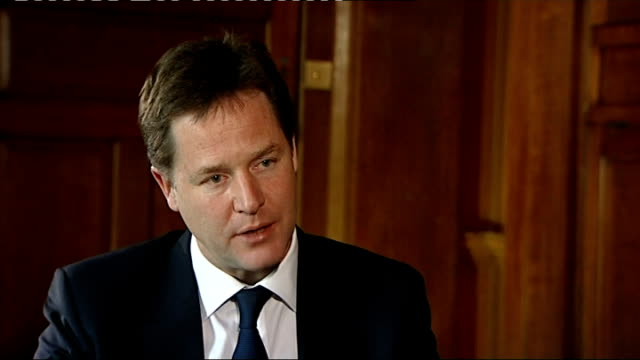 nick clegg interview on youth unemployment clegg interview sot on talking to european leaders / everybody recognises the worst thing would be if... - greed stock videos and b-roll footage
