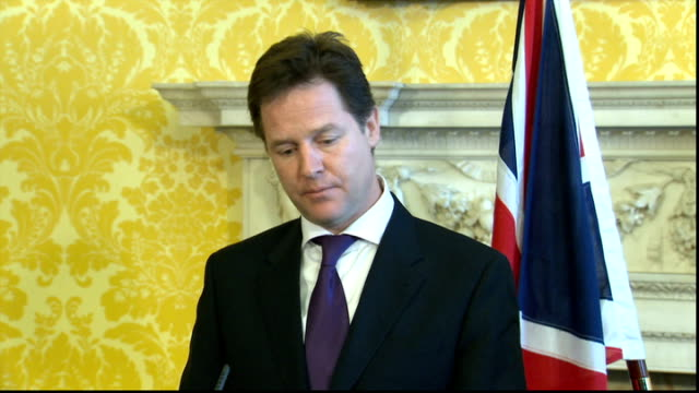 nick clegg meets palestinian president mahmoud abbas press conference questions and answer session q reports in the last 24 hours that president... - connection in process stock-videos und b-roll-filmmaterial