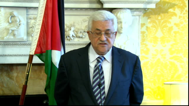 Nick Clegg meets Palestinian President Mahmoud Abbas press conference Mahmoud Abbas press conference SOT Thank you very much I agree very much with...