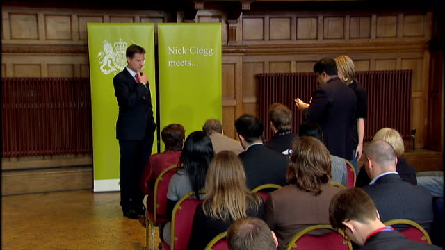 'Nick Clegg Meets' session in Croydon Nick Clegg Question and Anser session SOT on ANIMAL We are an animal loving nation I grew up in countryside...