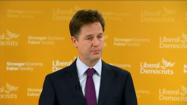 nick clegg monthly press conference question and answer session clegg answering questions sot on liberal tradition in british politics / liberal... - airbrush stock videos & royalty-free footage