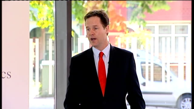 Nick Clegg outlines plans for political reform Speech ENGLAND London City and Islington College INT Nick Clegg MP speech SOT I have spent my whole...