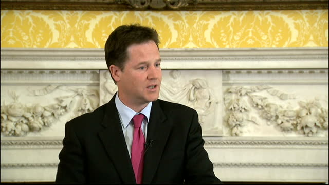 Nick Clegg press conference Clegg answering questions SOT On whether Cameron was wrong to have discussions with News International executives on the...