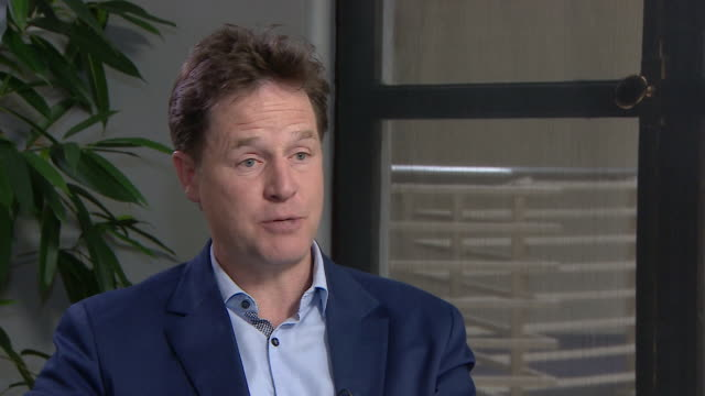 nick clegg saying theresa may's energy cap plan is good politics but rubbish policy - ニック クレッグ点の映像素材/bロール