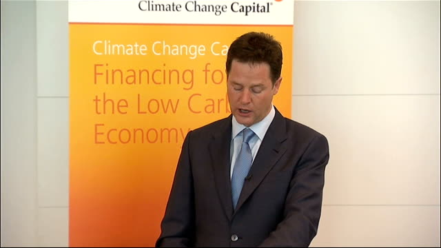 nick clegg speech at climate change capital clegg speech sot this is an important moment for the politics of climate change the green cause has spent... - politics and government stock videos & royalty-free footage