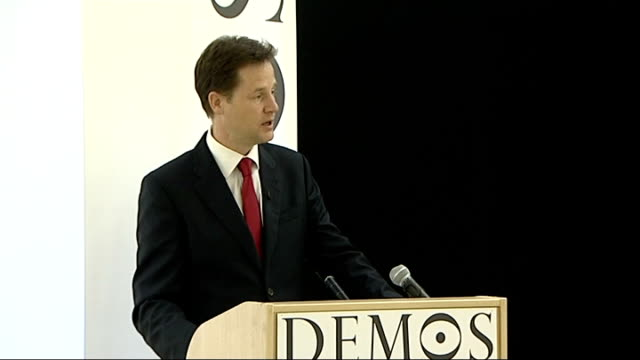 london int nick clegg mp speech sot last year i wrote a pamphlet published by demos arguing that the liberal moment had come i argued that demands... - pamphlet stock videos & royalty-free footage
