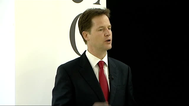 nick clegg speech at demos nick clegg speech continued sot the biggest change is in the way political decisions are made open discussion is... - politics and government stock videos & royalty-free footage