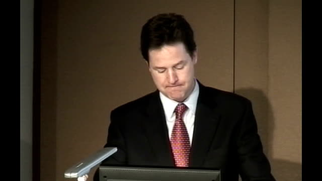 nick clegg speech at london stock exchange nick clegg speech continues sot these are in the context of britain's notoriously secretive centralised... - muscular contraction stock videos and b-roll footage