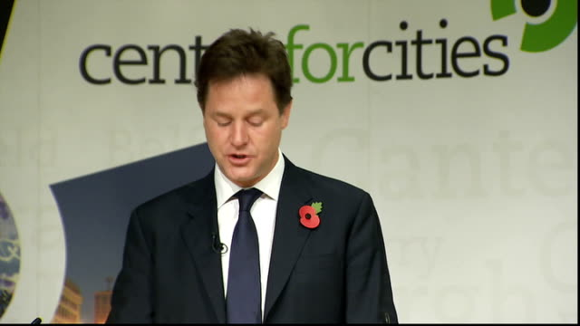 london the royal society int nick clegg mp arrives in room to applause and walks to podium nick clegg speech sot it's a pleasure to be here to... - big tech stock videos & royalty-free footage