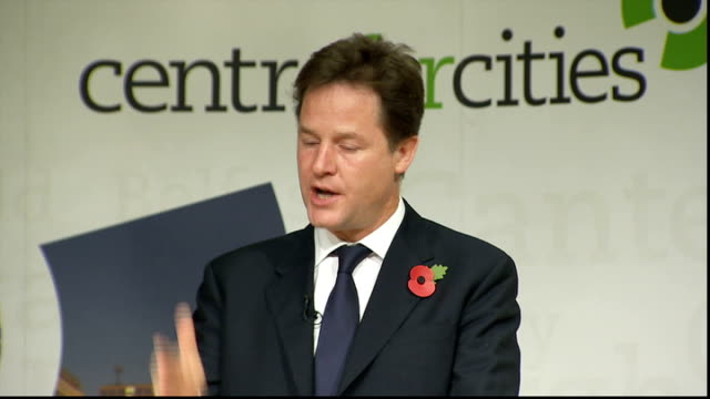 nick clegg speech on city deals nick clegg speech sot that is unprecedented / and it's real decentralisation – decentralisation over money /... - politics and government stock videos & royalty-free footage