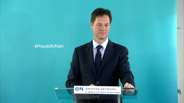 nick clegg speech on international development; clegg answering questions sot - [includes further comments on lord oakeshott] i think it is holy... - seguire attività che richiede movimento video stock e b–roll