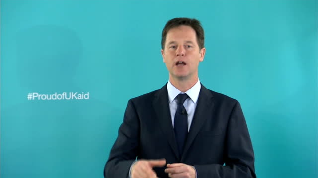 nick clegg speech on international development; clegg speech sot - what nigeria shows us is that you can't judge a country's progress by its... - social history stock videos & royalty-free footage