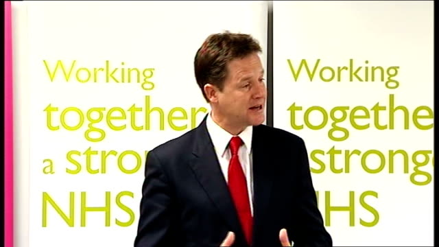 Nick Clegg speech on NHS reforms Clegg speech SOT The Coalition is protecting NHS funding but even with that protection our health services face huge...