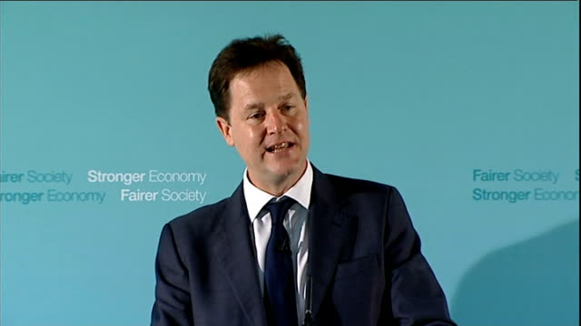 nick clegg speech on rehabilitation of offenders clegg speech sot for years the liberal democrats have argued that you only truly break the cycle of... - probation stock videos and b-roll footage