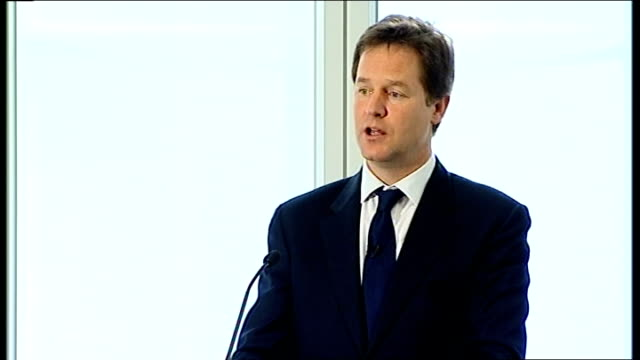 nick clegg speech on tax proposals nick clegg speech continued sot over recent weeks you will have heard a great deal about fairness at the top... - changing clock stock videos and b-roll footage