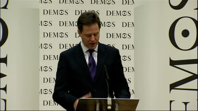 Nick Clegg speech to Demos and the Open Society Foundation Clegg speech SOT The third characteristic of an open society is the sharing of knowledge...