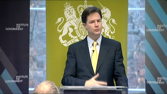 vidéos et rushes de nick clegg speech to institute for government on civil liberties nick clegg speech continued sot turning to our plan to restore british liberty one... - turning on or off