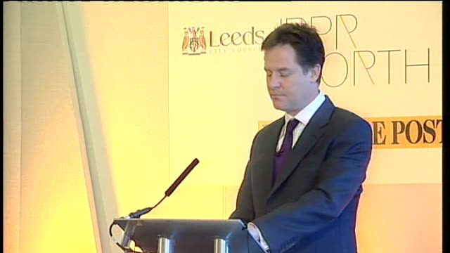 nick clegg speech to launch new 'city deals' clegg speech sot and we want to look at ways cities can shape public transport being ambitious about... - too small stock videos & royalty-free footage