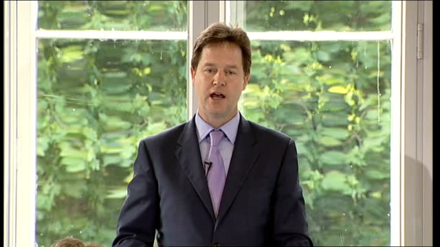 nick clegg speech to the institute of government; nick clegg speech sot - so it's time for fundamental reform - the kind of reform the liberal... - economy class stock videos & royalty-free footage