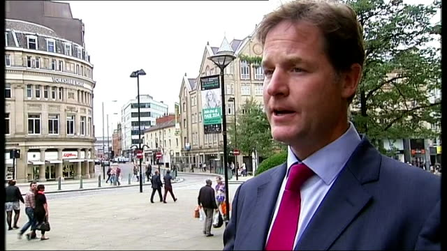 nick clegg supports thinktank calling for more power for english regions england south yorkshire sheffield ext general view of sheffield town hall... - south yorkshire stock videos and b-roll footage