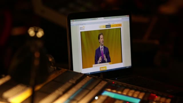 nick clegg, u.k. deputy prime minister and leader of the liberal democrats, speaks as he address delegates at the party's spring conference in... - minister clergy stock videos & royalty-free footage