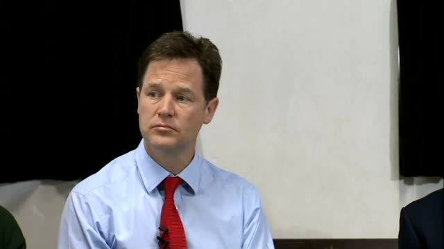 nick clegg visits st andrew's youth club clegg and mcvey question and answer session with students at st andrew's youth club sot - youth club stock videos & royalty-free footage