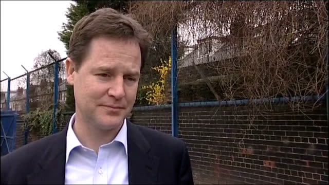 nick clegg visits youth project / nick clegg interview; ext nick clegg mp interview sot - on british contribution to the relief effort in japan /... - bureaucracy stock videos & royalty-free footage