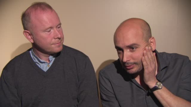 INTERVIEW Nick Fenton Peter Strickland on Bjork's vision at 'Bjork Biophillia Live' Interview at May Fair Hotel on October 09 2014 in London England