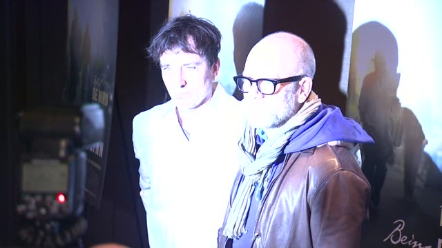 Nick Flynn and Michael Stipe at the Being Flynn Special Screening on in New York
