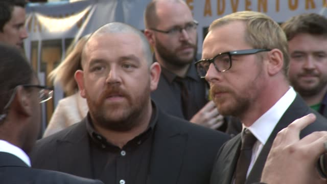 Nick Frost and Simon Pegg at the The Adventures of Tintin UK Premiere at London England