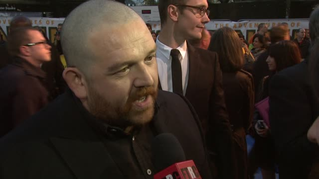 Nick Frost on the Thompson twins and how close he and Simon Pegg are to the characters at the The Adventures of Tintin UK Premiere at London England