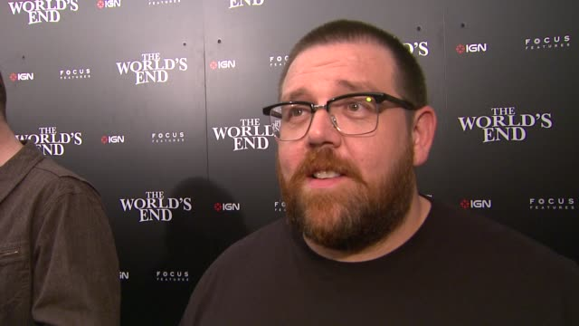 nick frost on what fans can expect from the world's end, on working with this group of guys, on the film just being released in the u.k., on simon... - phase image stock videos & royalty-free footage